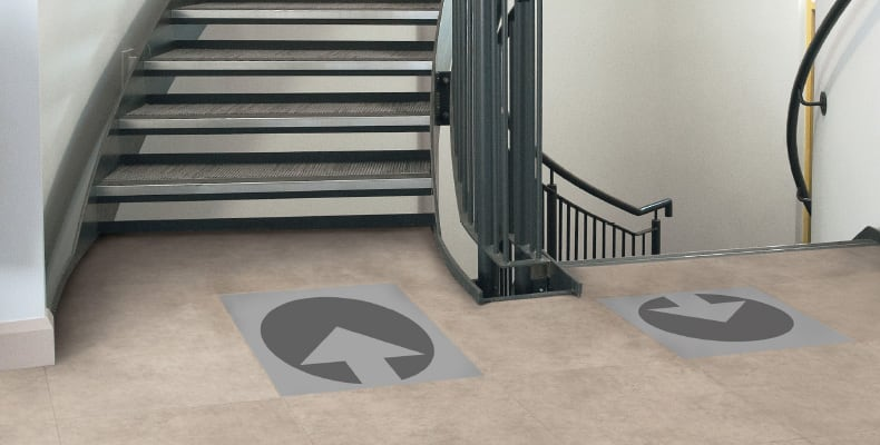 LVT Wayfinding Product in Hospitality Setting