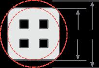 4-hole hollow filament diagram